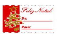 Etiquetas adesivas Decorativas Feliz NataL  c/ 100 Un - Eticol