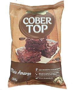 Cobertura Cober top Chocolate Meio Amargo em Pedaços - 1,01kg Bel