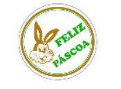 Etiquetas adesivas Decorativas Feliz Páscoa c/ 100 Un - Eticol