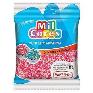 Confeito Crocante de Miçanga Branca/Rosa N°0 150g - Mavalério