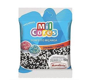 Confeito Crocante de Miçanga Branca/Marrom N°0 150g - Mavalério