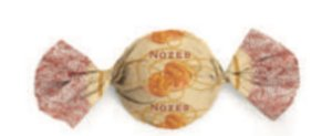 Embalagem para trufão sabor Nozes 20x18cm
