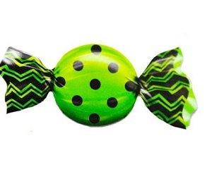 Embalagem para trufão Max Poá Preto com Verde 20x18 cm -Carber