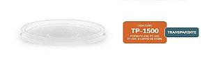 Tampa plástica 1500 Transparente com 50 unidades - Minaplast