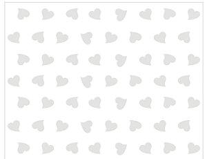 Saco celofane Coração Branco 50 unidades - Packpel