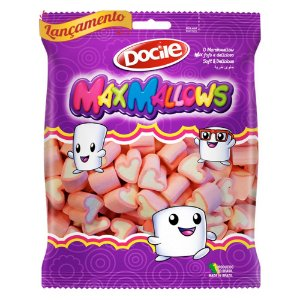 Marshmallow Coração Morango 250g - Docile