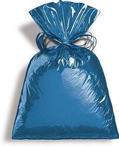 Saco para presente Azul Cyan 25x37 com 50 unidades - Packpel