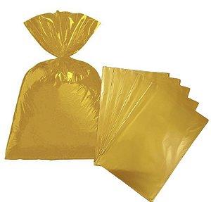 Saco para presente cor Ouro metalizado 24x37cm com 50 unidades - Packpel
