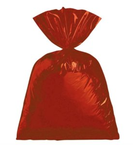 Saco para Presente metalizado Vermelho 25x37cm com 50 unidades - Packpel