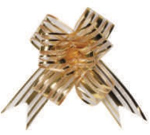 Laço Fácil Organza Ouro - Packpel