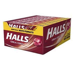 Bala Drops Halls Cereja 21 un- Adams