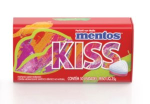 Mentos Kiss Fruit Morango c/ 50 un- Perfetti