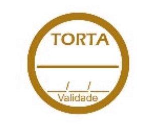 Etiqueta adesivas Decorativa Torta - Eticol
