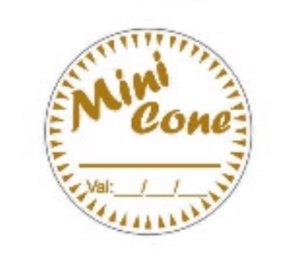 Etiqueta adesivas Decorativas Mini Cone  - Eticol