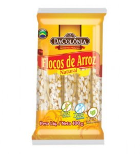 Flocos de Arroz Natural 100g- Dacolônia