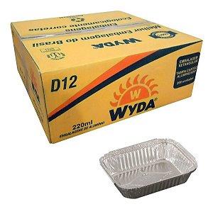 Bandeja de alumínio retangular D12 c/ 200 unidades - Wyda