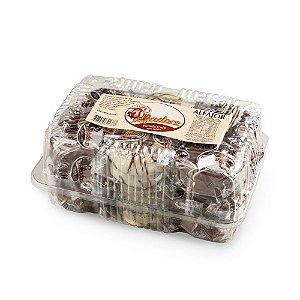 Alfajor chocolate branco e preto 18 unidades com 40g -