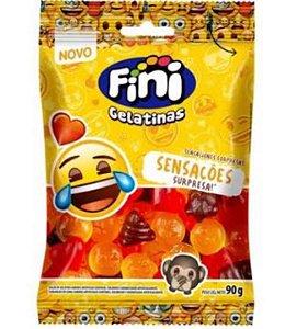 Bala Fini Sensações Gelatinas Emoji 90g