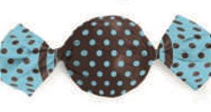 Embalagem para Trufa decorado Marrom c/ Azul 15x16cm - Carber