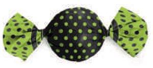 Embalagem para trufa decorado Max poá Verde C/ Preto 15x16 - Carber