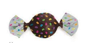Embalagem para Trufa decorada Confeito Marrom 15x16cm - Carber