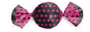 Embalagem para Trufa Poá Preto/Pink 14,5x15,5cm- Packpel