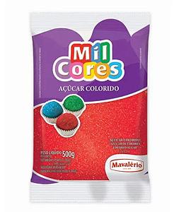 Açúcar Cristal Vermelho Mil Cores 500g - Mavalério