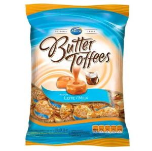 Bala Butter Toffees Leite 100g - Arcor