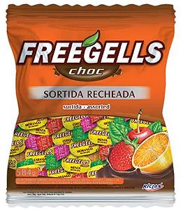 Bala Choc Freegells Recheada Sortida 584g - Riclan