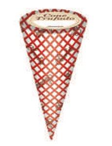 Embalagem cone Trufado Casquinha de Sorvete com 50 unid - Carber
