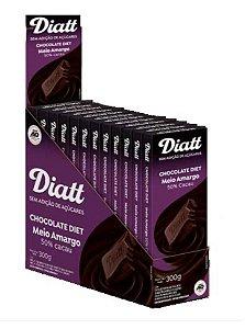 Chocolate diet meio amargo 50% cacau 12x25g - Diatt