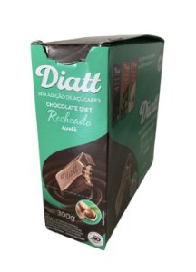 Chocolate diet recheado avelã 12X25g - Diatt