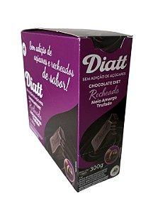 Chocolate diet recheado meio amargo trufado12x25g - Diatt