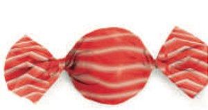 Embalagem para Trufa Listra Vermelha 15x16cm- Carber