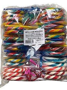Pirulitos psicodélicos Coloridos M com 30 unidades  - Arte e Cor