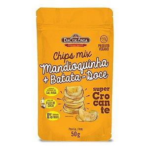 Chips vegano de mandioquinha e batata Doce 50G - Docolônia