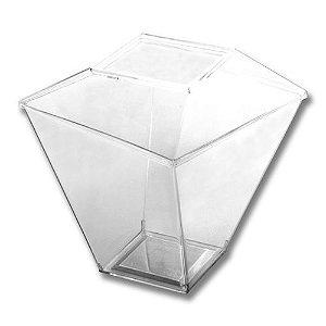 Copo Quadratto com tampa 150ml com 10 unidades - Prafesta