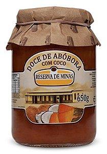 Doce de Abóbora com coco 650g - Reserva de Minas