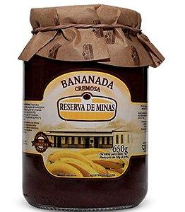 Bananada Cremosa 650g - Reserva de Minas