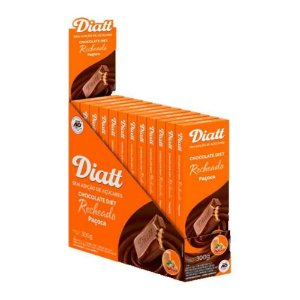 Chocolate diet paçoca 12x25g - Diatt