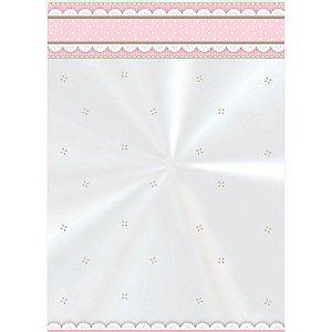 Saco decorado Cute Rosa 10x14cm c/ 50 unidades - Cromus