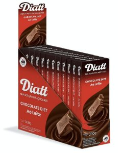 Chocolate ao leite diet 12x25g - Diatt