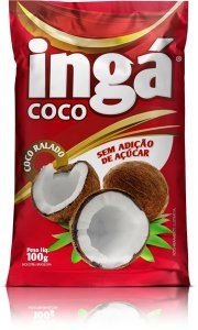 Coco ralado sem açúcar 100g - Ingá