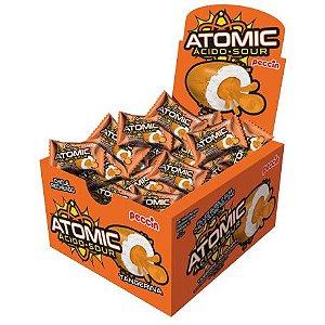 Chiclete atomic ácido sour sabor tangerina com 28 unidades - Peccin