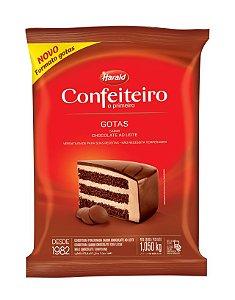Chocolate Confeiteiro gotas meio amargo 1,050kg - Harald