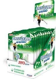 Lâminas Freegells artic sabor menta com 12 unidades - Riclan