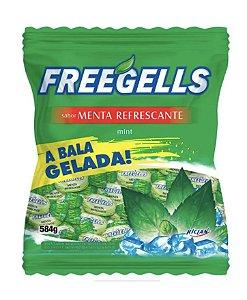 Bala Dura Menta Refrescante Freegells 584g - Riclan