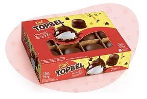 Marshmallow TOPBEL Tradicional Cobertura Chocolate 216g c/ 12 un.