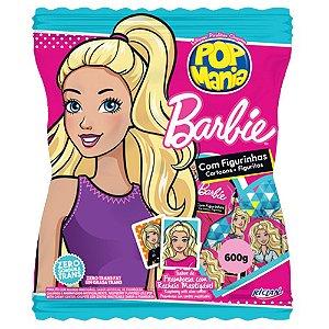 Pirulito Pop Mania Barbie 600g com 50 Unidades - Riclan