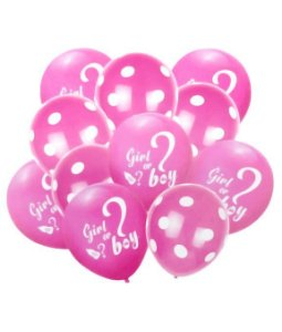 Buquê De Balões Chá De Revelação Rosa com 10 Unidades